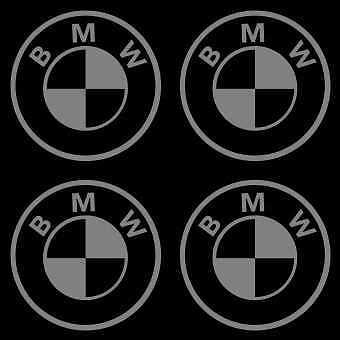 4 Sticker Autocollant BMW MotorSort M3 M5   Gris b02