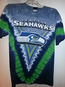 ab7b8b98 SEATTLE SEAHAWKS Tie Dye V Dye T-Shirt NFL NEW SHIRT WITH TAGS ...