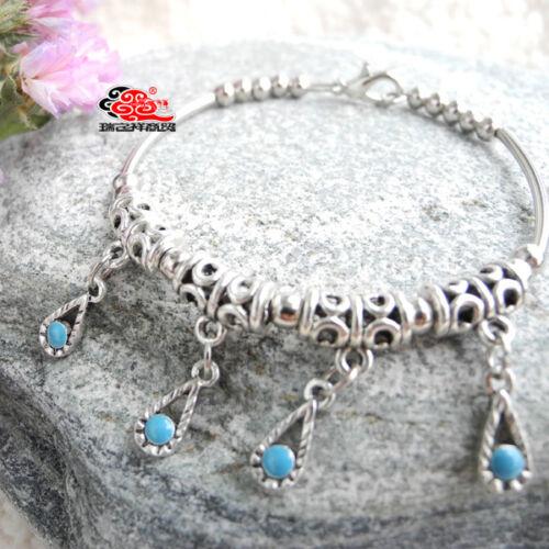 Joli Bracelet Style Tibétain en Argent Tibétain