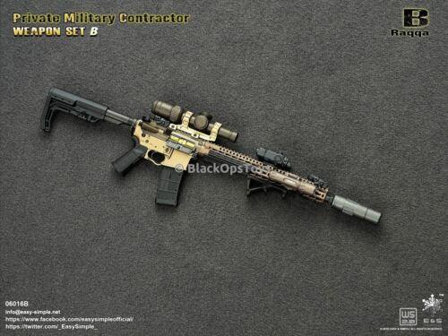 VARIANTE PMC ARMA Set B-racqqa Nuovo di zecca con scatola Giocattolo scala 1//6 M4 P.A