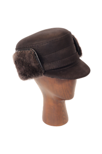 NEW Elmer Fudd Hat (Black) - Leather  Sheepskin by Northern Hats ... e662d13493a