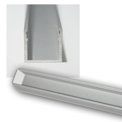 1m LED Aluminium-Profil Abdeckung TRANSPAR Schiene POLARUS ALU Leiste inkl