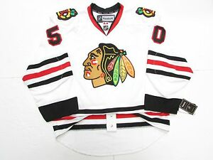 cheap for discount e633b d5529 Details about COREY CRAWFORD CHICAGO BLACKHAWKS AUTHENTIC AWAY REEBOK EDGE  2.0 7287 JERSEY