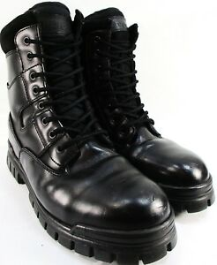 32f2e28639b Details about Thorogood Men Steel Toe Boots Size 8 Black Leather Side  Zipper Made in China