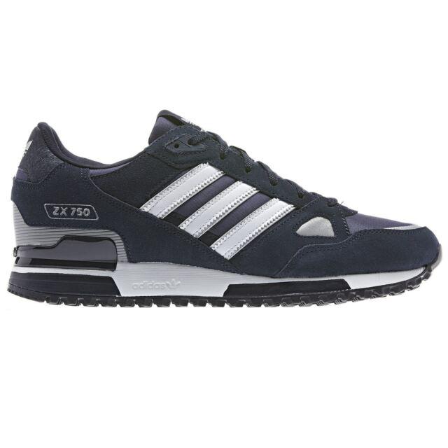 3cadbb8e7 adidas Originals ZX 750 Mens Running Trainers Blue Black Navy SNEAKERS Shoes  Black 9