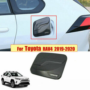 Carbon-Fiber-Style-Fuel-Oil-Tank-Gas-Cap-Cover-Trim-For-Toyota-RAV4-2019-2020