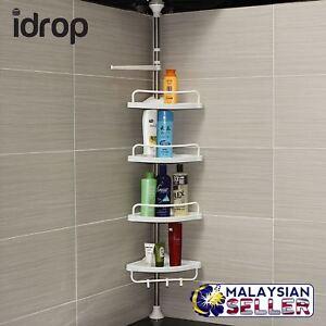 CRAZYBOSS-idrop-4-Layer-Corner-Shelf-Toilet-Kitchen-Extendable-Adjustable-Rack