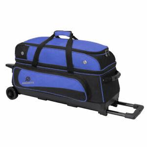Bowling-3-Ball-Tasche-Triple-Roller-Ebonite-TranSport-III-blau-Bowlingschuhe