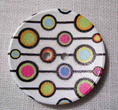 BOUTON BOIS VERNIS DESIGN rond ** 40 mm 4 cm ** Lot au choix X1 X2 X3 40//109