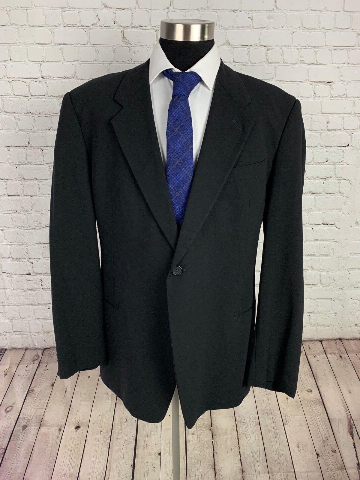 Giorgio Armani Collezioni  Herren grau Wool Italian Stretch 2pc Suit 46L 36Wx31L