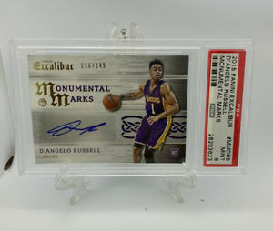 2015-Panini-Excalibur-D-ANGELO-RUSSELL-Rookie-Auto-RC-149-PSA-9-Mint-POP-2