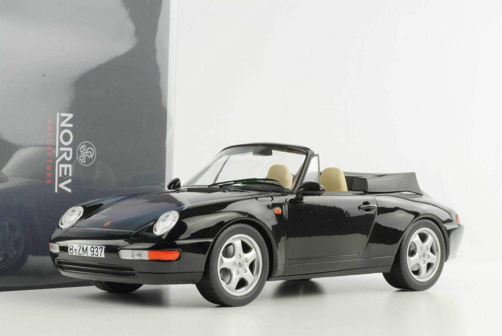 1 18 993 911 Porsche Cabrio Cabriolet 1995 nero Norev 187595