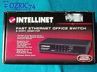 5 Porte Fast Ethernet Office Switch 10 100 Mbps Speeds of up 200 Mbps Metal Case