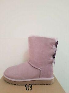 Ugg-Australia-Women-039-s-Bailey-Bow-II-Shimmer-Boots-Size-6-NIB
