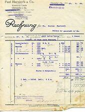 Alte Rechnung 1924 Paul Harnisch Wirkwaren Chemnitz Sachsen Westen