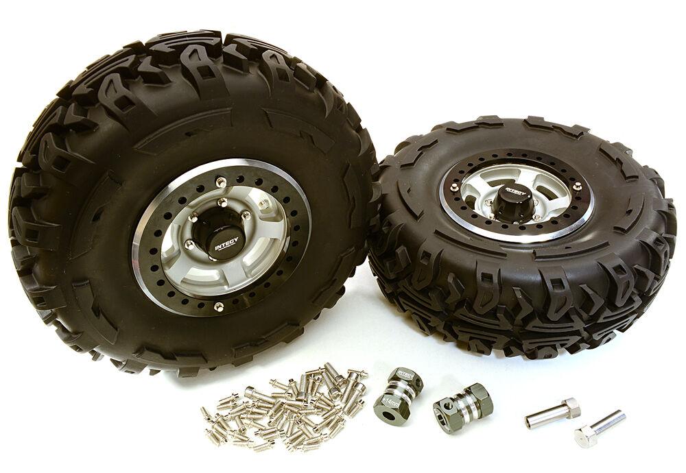C27038HARD 2.2x1.5-in. High Mass Wheel, Tires, 14mm OffSet Hubs for 1 10 Crawler