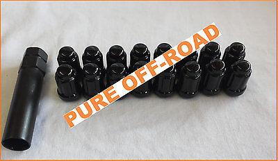 Set of 16 Black Lug Nuts 12mm x 1.5 w// Socket Honda Pioneer 12x1.5 1215