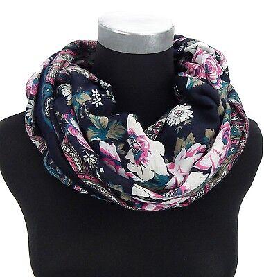 Ella Jonte Damenschal braun schwarz Blumen Ornamente Damentuch Tuch Schal