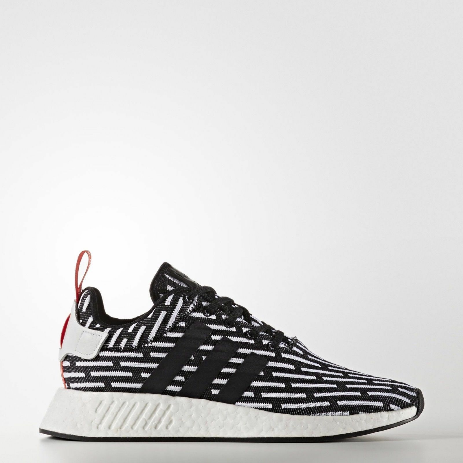 Adidas [] BB2951 R2 pique  de algodón de punto Prime NMD que ejecutan Zapatos Hombres Mujeres Negro blancoo  en linea