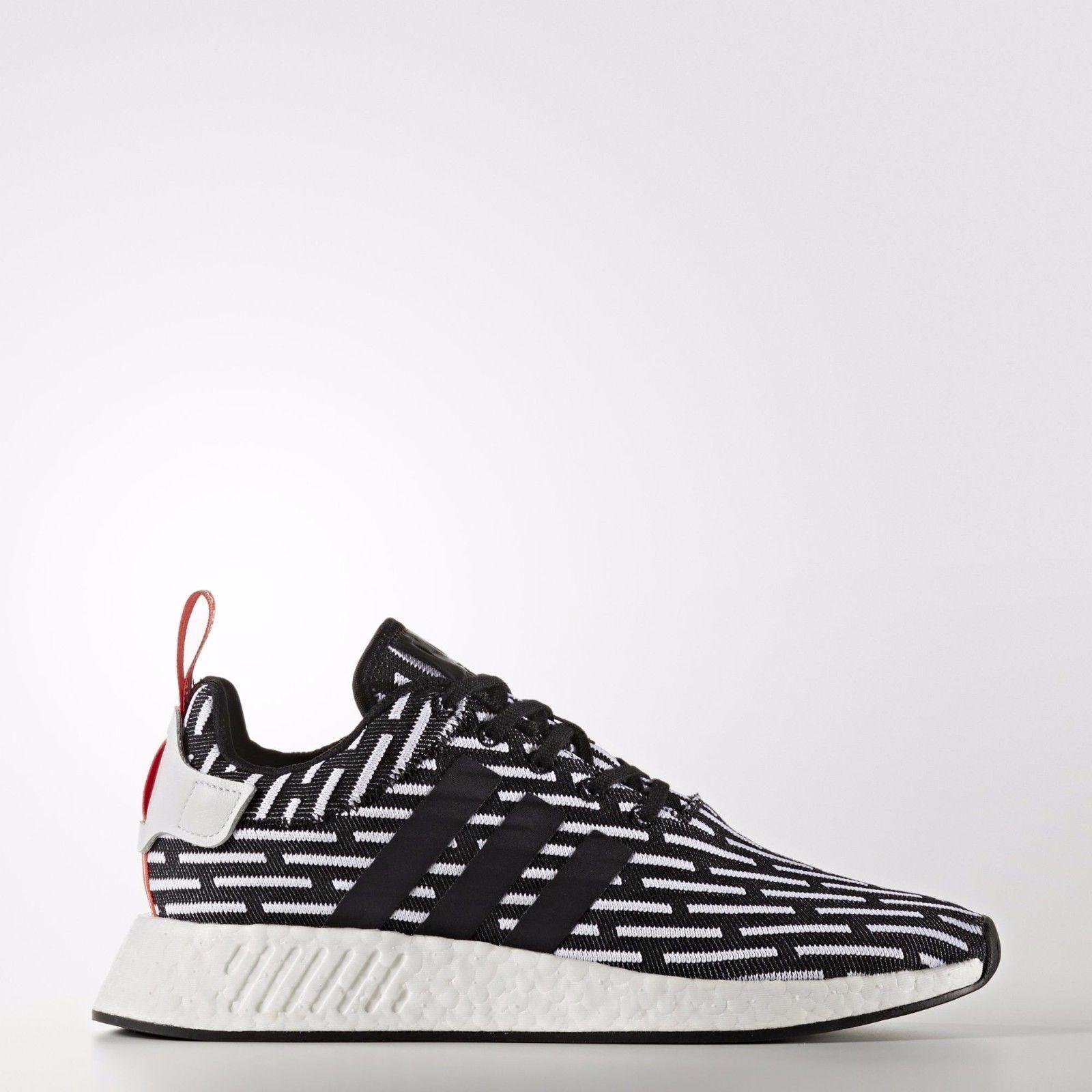 [Adidas] BB2951 NMD R2 PK Prime Knit Running hommes femmes Chaussures noir blanc