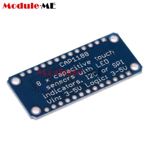 CAP1188 8 Key Button Capacitive Touch Sensor Module SPI I2C 3-5V LED for Arduino