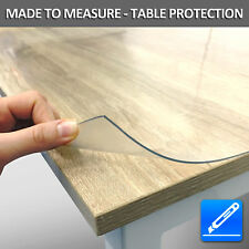 Plastic Table Cover Desk Roll Sheet Protection 2mm Transparent PVC 100cm Wide