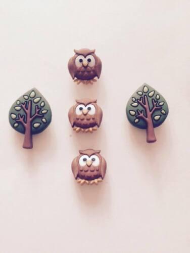 DRESS IT UP children/'s  Night Owls Bird  Twit Twoo Cake Deco Card Crafts