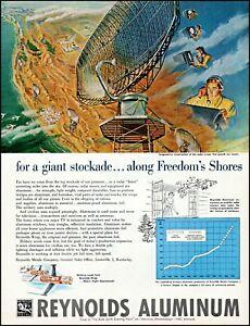 1952 U.S. Military Radar Defense Reynolds Aluminum vintage art print ad adl79