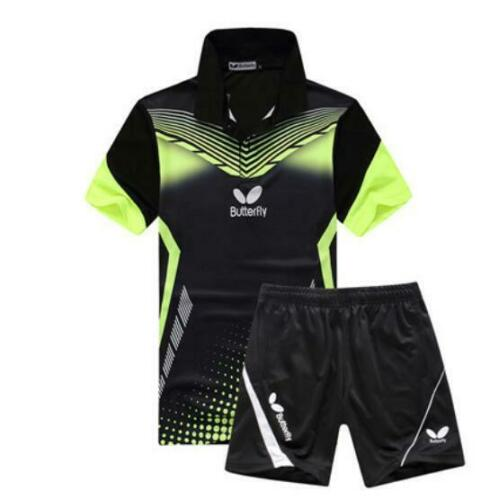 2019 New men/'s Tops tennis//badminton Clothes T shirts+shorts