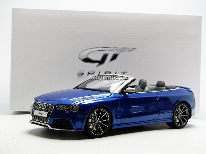 Gt Spirit 2014 Audi Rs5 Cabriolet Blau 1 18 Maßstab Le Of 504. Neu  Im Lager
