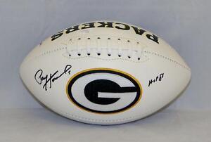 Paul-Hornung-Autographed-Green-Bay-Packers-Logo-Football-W-HOF-JSA-W-Auth