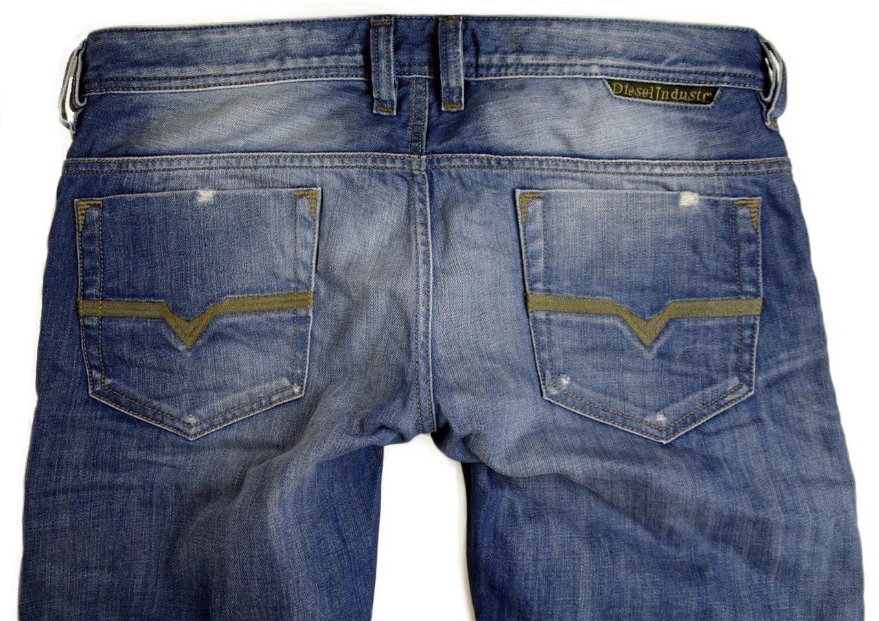 Diesel Mens Designer Denim Regular Slim Straight Designer Jeans Safado 0807K