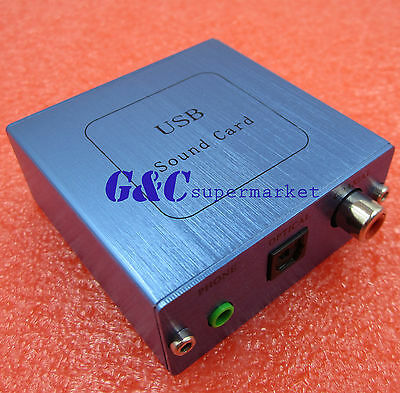 PCM2704 USB DAC USB to S/PDIF Sound Card Decoder Board W/Aluminum For Computer