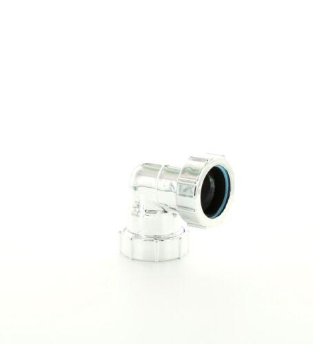 "Multikwik HWP120C Chrome Plated Waste Pipe Elbow 32mm Internal 1 1//4/"""