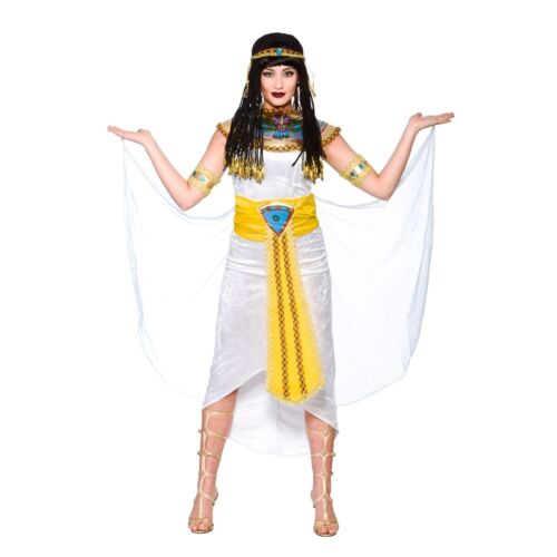 Adult PRINCESS CLEOPATRA Ancient Egyptian Queen Fancy Dress Ladies UK Size 6-24