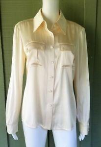 ST-JOHN-Ivory-Silk-Charmeuse-Shirt-Blouse-Top-8