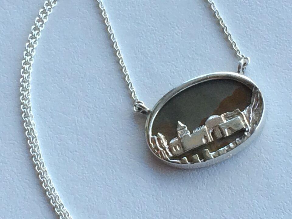 Halskæde, sølv, N.E.From