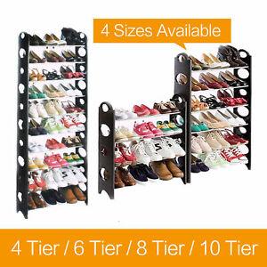 4 6 8 10 Tier Shoe Storage Shelf Rack Stand Organizer 12 18 24 30 Pairs Shoes Ebay