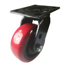 5 X 2 Heavy Duty Polyurethane Wheel Caster Swivel Black