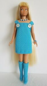 Vintage-SKIPPER-Doll-Clothes-DRESS-OVERALLS-BOOTS-amp-JEWELRY-Fashion-NO-DOLL-d4e