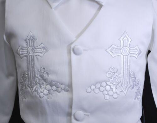 New Infant Boy /& Toddler Baptism Christening Formal Vest Suit sz XS S M L XL-4T