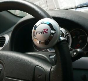 Silver-TypeR-Car-amp-Lorry-Steering-Wheel-Aid-Power-Handle-Assister-Spin-Knob-Ball