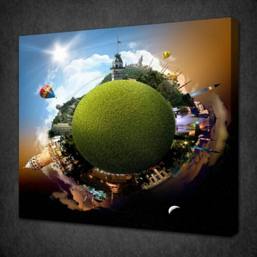 PLANET ISTANBUL LONDON PARIS CANVAS PICTURE PRINT WALL ART FREE FAST UK DELIVERY