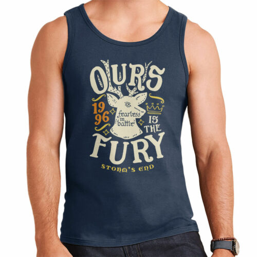 Ours Is The Fury Storms End Baratheon Game Of Thrones Men/'s Vest