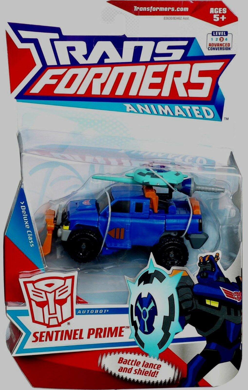 Transformers Animated Deluxe  Class Sentinel Prime 4  neuve sous blister 2008  qualité officielle