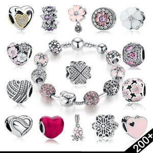 Bracelet-Silver-Charms-Fit-European-Beads-925-Fashion-Cute-Jewelry-Lots-Chain