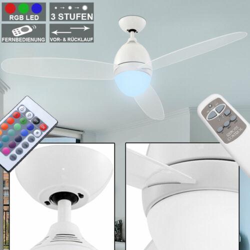 LED 15w Ventilatore a soffitto Ø 132cm ufficio cucina VENTOLA TELECOMANDO CON LAMPADA RGB