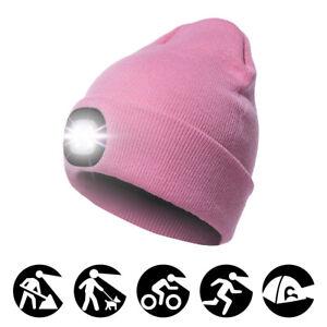 4LED-Strickmuetze-Wiederaufladbare-Haend-Freie-Taschenlampe-Muetze-Angeln-Licht-Cap