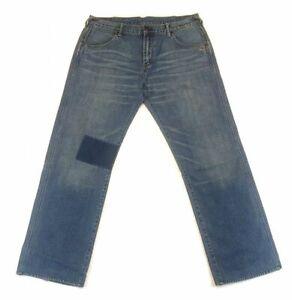 Vintage-Evisu-Jeans-Lotus-Flower-Patches-Blue-Washed-Size-38-x-32-Mens-Pants
