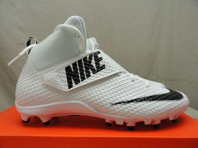 82d8b16f4fdfbe NEW Nike Lunarbeast Pro TD CF Football Cleats 847550-100 White Black-Black